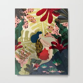 Relaxed in Jungle - The Book Lover Metal Print