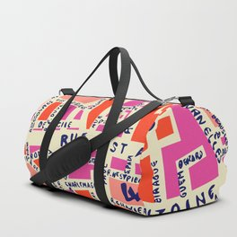 paris map pink Duffle Bag