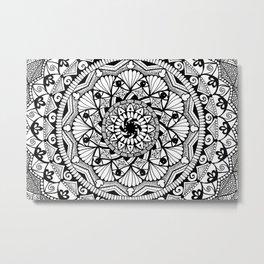Black & White - I See You - Mandala Metal Print