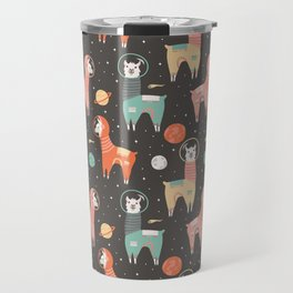 Astronaut Llamas in Space Travel Mug