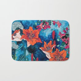 Blooming Night Garden: Twilight Bath Mat
