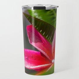 Royal Hawaiian Pink Plumeria Travel Mug