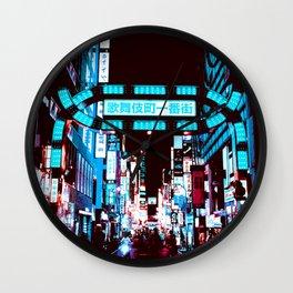 Japan - 'Blue kabukicho' Wall Clock