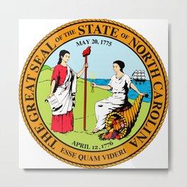North Carolina seal Metal Print