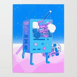 Lonely Samurai B (Revised Version) - Japanese Interpretation of Iconic Cartoon Poster