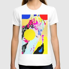 The River Flow - Abstract Pop Art Painting & Comic T-shirt