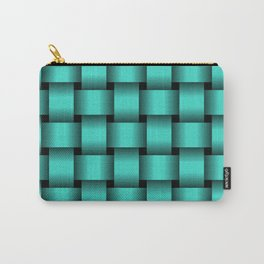 Large Turquoise Weave Carry-All Pouch