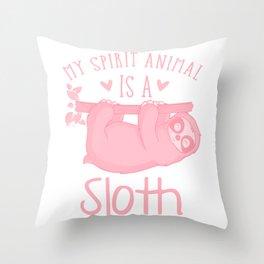 My Spirit Animal Is A Sloth pw Throw Pillow
