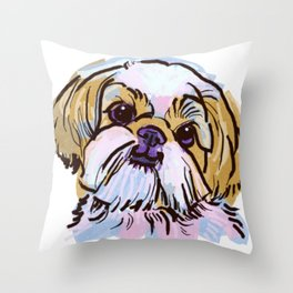 The Shih Tzu always keeps me smiling! Throw Pillow