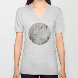 Metallic Abstract Unisex V-Neck