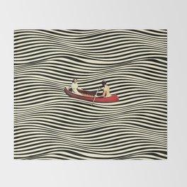 Illusionary Boat Ride Throw Blanket
