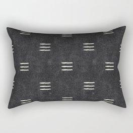 triple dash - onyx Rectangular Pillow
