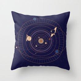 Art Deco Star Chart Throw Pillow