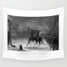 George Washington At The Battle Of Trenton Wall Tapestry