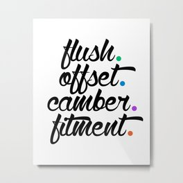 flush offset camber fitment v5 HQvector Metal Print
