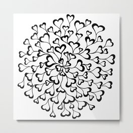 Concentric Hearts Metal Print