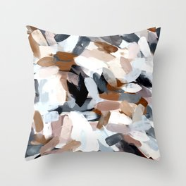 Dusty Beach Abstract Throw Pillow