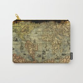 Vintage Old World Map Carry-All Pouch
