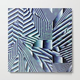 Linear Chaos Abstract Pattern Metal Print