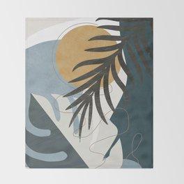 Abstract Tropical Art II Throw Blanket