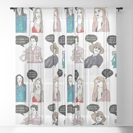 Southern Charmers Sheer Curtain