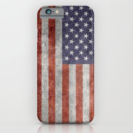 Flag of the United States of America - Vintage Retro Distressed Textured version iPhone Case