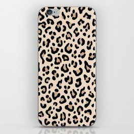 BLACK and WHITE LEOPARD PRINT – Ecru | Collection : Leopard spots – Punk Rock Animal Prints. iPhone Skin