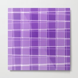 Chalk strokes of light and violet lines on a calm background. Metal Print