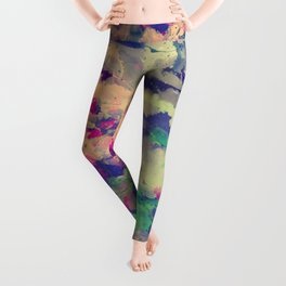 Abstract painting X 0.3 Leggings