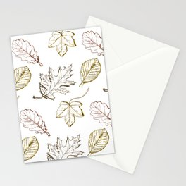 Leaves (browns) Stationery Cards