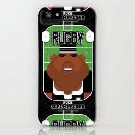 Rugby Black - Ruck Scrumpacker - Hayes version iPhone Case