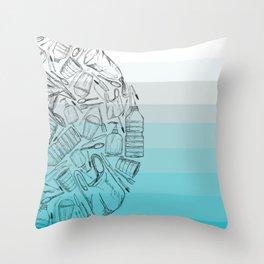 Half A World Of Plastic. Throw Pillow