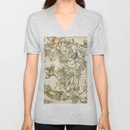 "Albrecht Dürer ""Celestial map of the Northern sky"" Unisex V-Neck"
