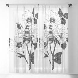 Save the bees Sheer Curtain