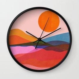 Abstraction_OCEAN_Beach_Minimalism_001 Wall Clock