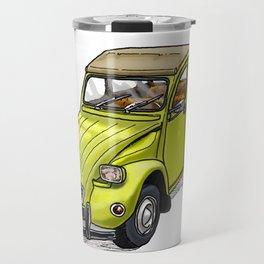 Yellow 2CV Travel Mug