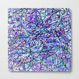 Purple Teal Metal Print