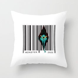 Code monsters Throw Pillow