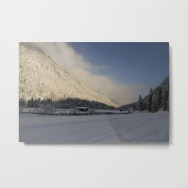 A Peaceful Snow Landsscape Metal Print