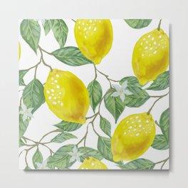 Life Giving You Lemons Metal Print