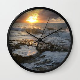 Sunset in the Dominican Republic Wall Clock
