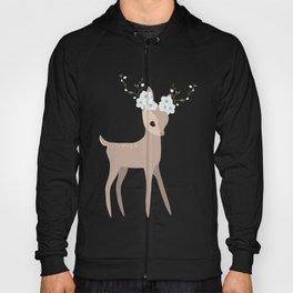 Floral Deer Hoody