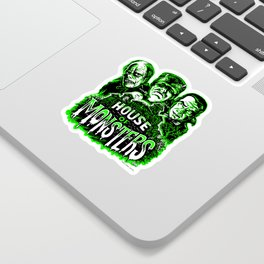 House of Monsters Phantom Frankenstein Dracula classic horror Sticker