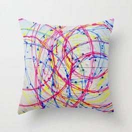 Satellites Throw Pillow