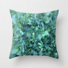 Sedum Plant Dot Graphic Throw Pillow
