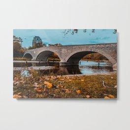 Old Mill Road Bridge Photograph Metal Print