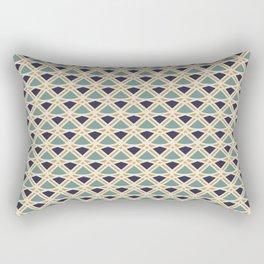 DECO - teal navy gold ivory diamond artdeco pattern Rectangular Pillow