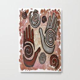 Healing Hands Fresco by OLena Art  Metal Print