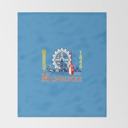 flag of Milwaukee Throw Blanket