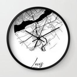 Levis Area City Map, Levis Circle City Maps Print, Levis Black Water City Maps Wall Clock